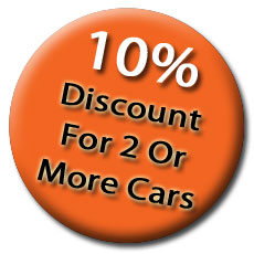 10% discounts when two or more cars are valeted